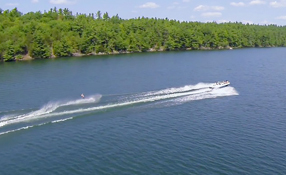 Water Skiing, Buck Lake - DJI Phantom 2